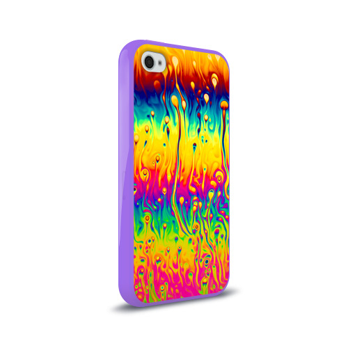 Чехол для Apple iPhone 4/4S силиконовый глянцевый  Фото 02, Tie dye