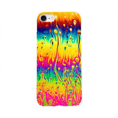 Чехол для Apple iPhone 8 силиконовый глянцевый  Фото 01, Tie dye