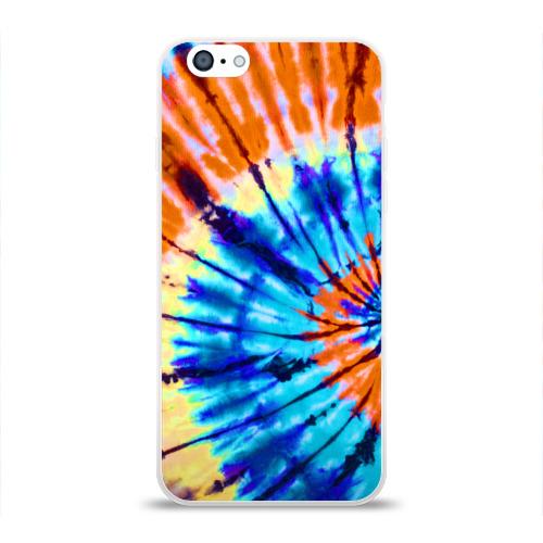 Чехол для Apple iPhone 6 силиконовый глянцевый  Фото 01, Tie dye
