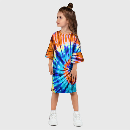 Детское платье 3D  Фото 03, Tie dye