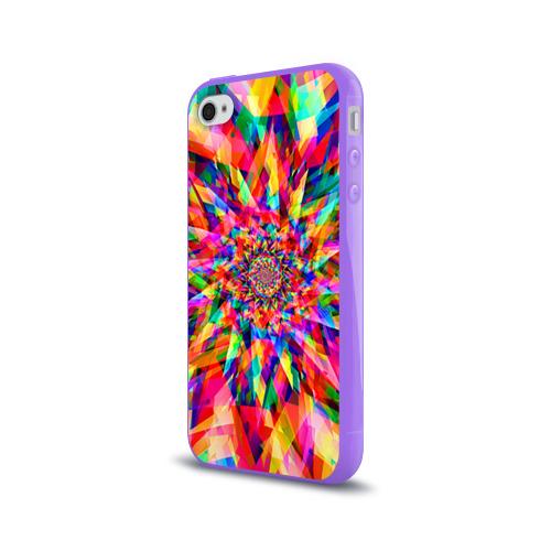 Чехол для Apple iPhone 4/4S силиконовый глянцевый Tie dye Фото 01