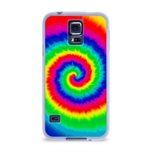 Чехол для Samsung Galaxy S5 силиконовый  Фото 01, Tie dye