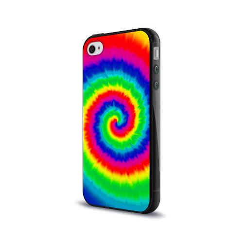 Чехол для Apple iPhone 4/4S силиконовый глянцевый  Фото 03, Tie dye