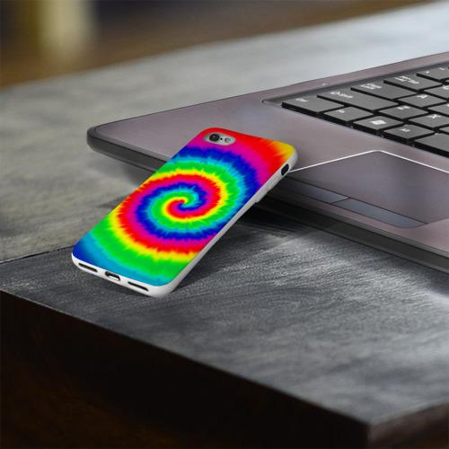 Чехол для Apple iPhone 8 силиконовый глянцевый  Фото 03, Tie dye