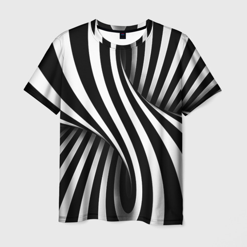 Мужская футболка 3D с полной запечаткой Оптические иллюзии - 1