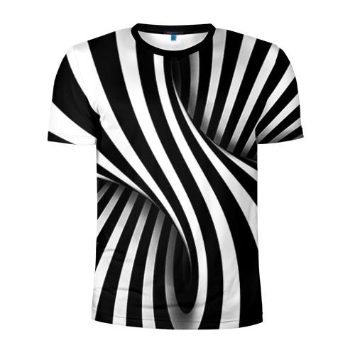 Мужская футболка 3D спортивная Оптические иллюзии