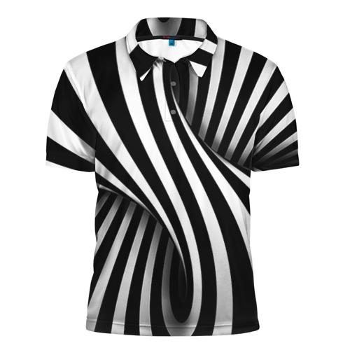 Мужская рубашка поло 3D  Фото 01, Оптические иллюзии