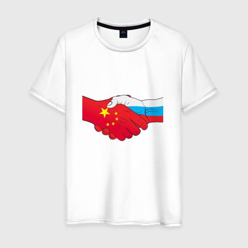 Мужская футболка хлопок Россия Китай