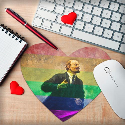 Коврик сердце  Фото 02, Радужный Ленин