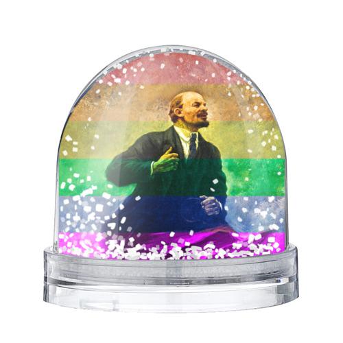 Водяной шар со снегом Радужный Ленин