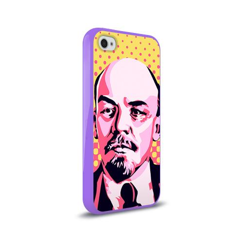 Чехол для Apple iPhone 4/4S силиконовый глянцевый  Фото 02, Поп-арт. Ленин