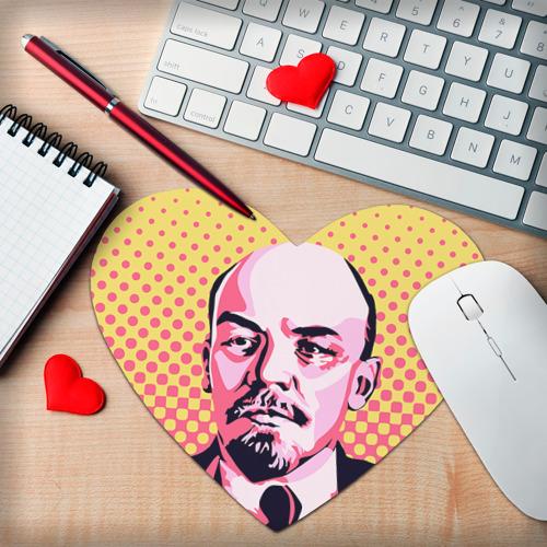 Коврик сердце  Фото 02, Поп-арт. Ленин