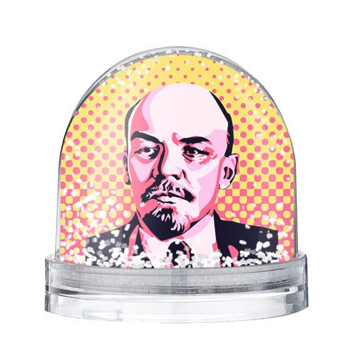 Водяной шар со снегом Поп-арт. Ленин