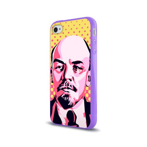 Чехол для Apple iPhone 4/4S силиконовый глянцевый  Фото 03, Поп-арт. Ленин