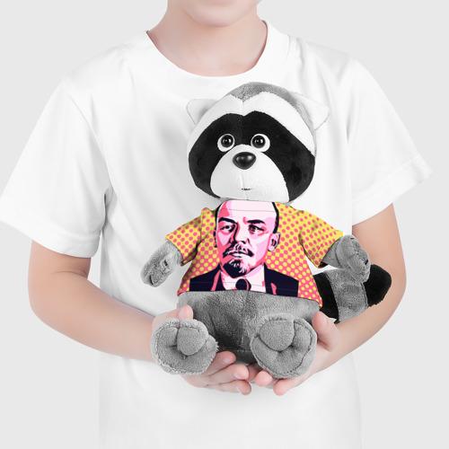 Енотик в футболке 3D  Фото 04, Поп-арт. Ленин