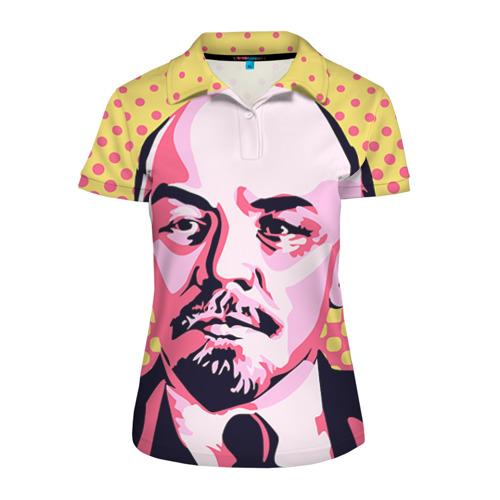 Женская рубашка поло 3D Поп-арт. Ленин