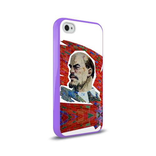 Чехол для Apple iPhone 4/4S силиконовый глянцевый  Фото 02, Ленин