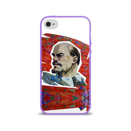 Чехол для Apple iPhone 4/4S силиконовый глянцевый  Фото 01, Ленин