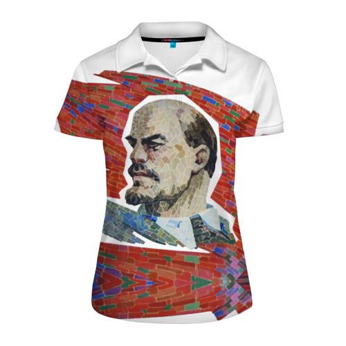 Женская рубашка поло 3D Ленин