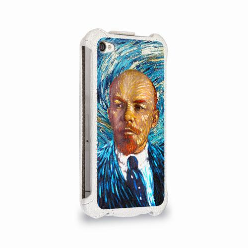 Чехол для Apple iPhone 4/4S flip  Фото 02, Ленин по мотивам Ван Гога