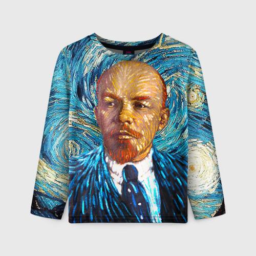 Детский лонгслив 3D Ленин по мотивам Ван Гога