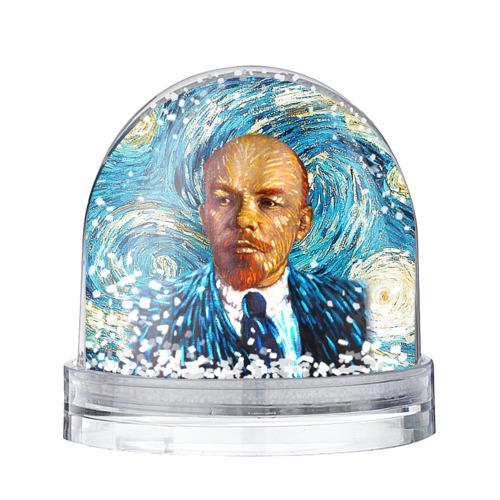 Водяной шар со снегом Ленин по мотивам Ван Гога