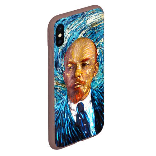 Чехол для iPhone XS Max матовый Ленин по мотивам Ван Гога Фото 01