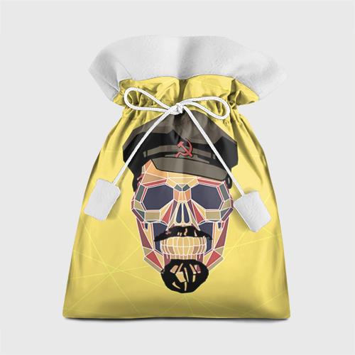 Подарочный 3D мешок Полигональный череп Ленина