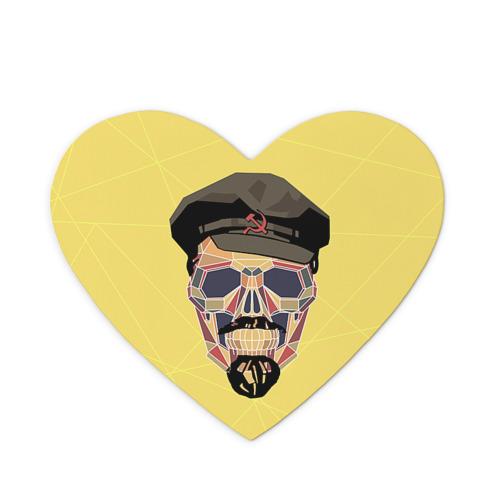 Коврик сердце  Фото 01, Полигональный череп Ленина