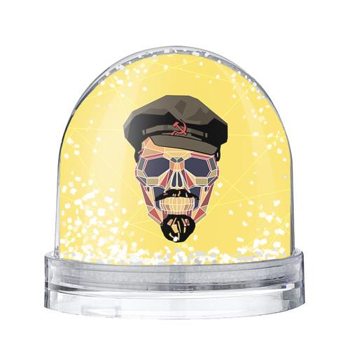Водяной шар со снегом Полигональный череп Ленина