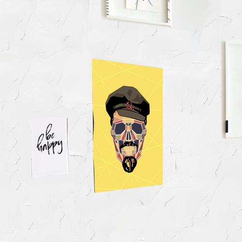 Постер Полигональный череп Ленина Фото 01