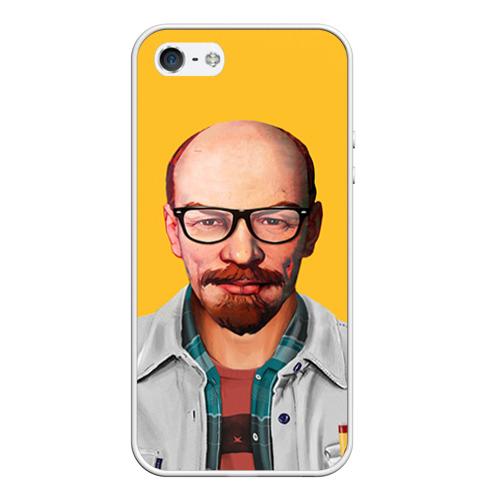 Чехол силиконовый для Телефон Apple iPhone 5/5S Ленин хипстер от Всемайки