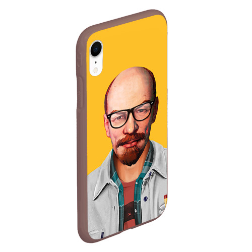 Чехол для iPhone XR матовый Ленин хипстер Фото 01