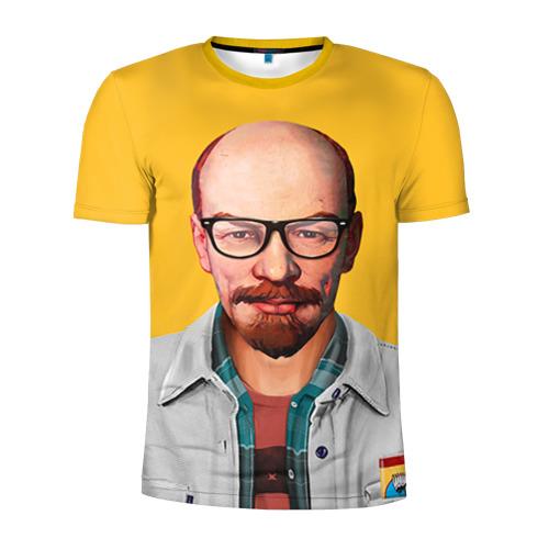 Мужская футболка 3D спортивная Ленин хипстер