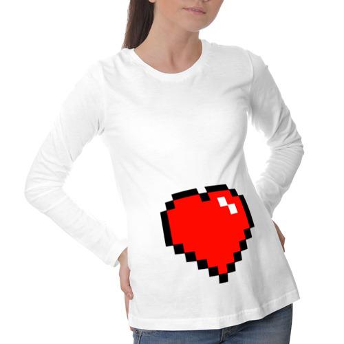 Лонгслив для беременных хлопок  Фото 01, Minecraft сердце