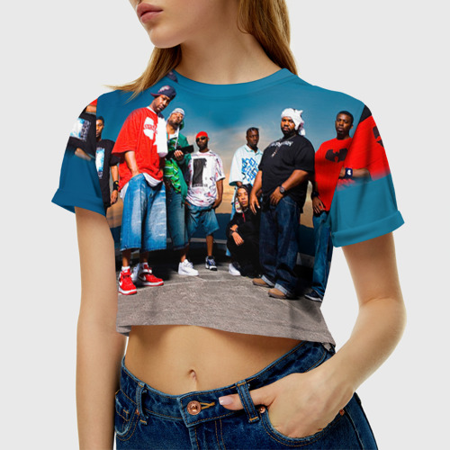 Женская футболка 3D укороченная Wu-Tang Clan