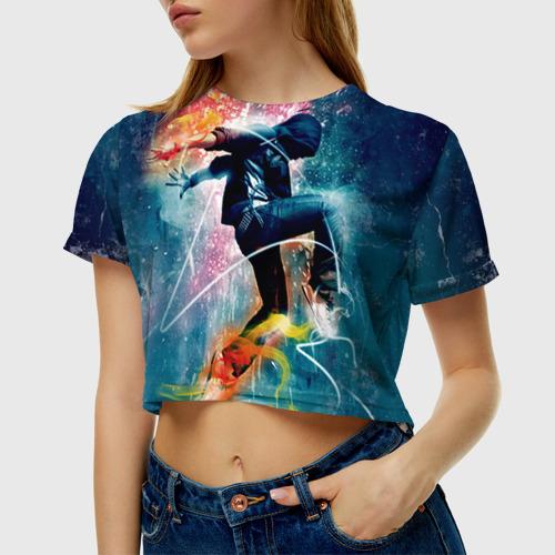 Женская футболка 3D укороченная Hip hop