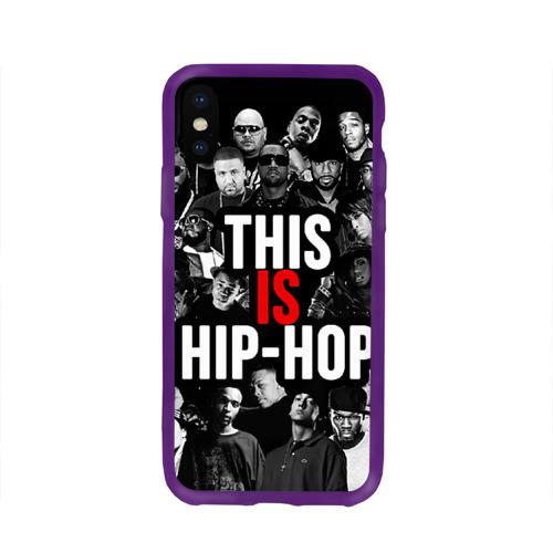 Чехол для Apple iPhone X силиконовый глянцевый Hip hop Фото 01