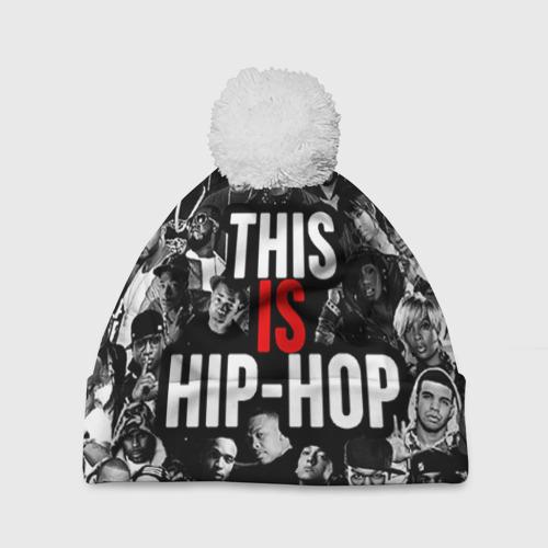 Шапка 3D c помпоном Hip hop