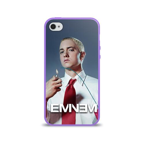 Чехол для Apple iPhone 4/4S силиконовый глянцевый  Фото 01, Eminem