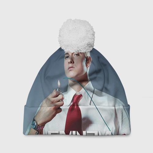 Шапка 3D c помпоном  Фото 01, Eminem