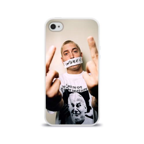 Чехол для Apple iPhone 4/4S силиконовый глянцевый Eminem
