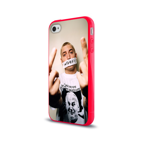 Чехол для Apple iPhone 4/4S силиконовый глянцевый  Фото 03, Eminem