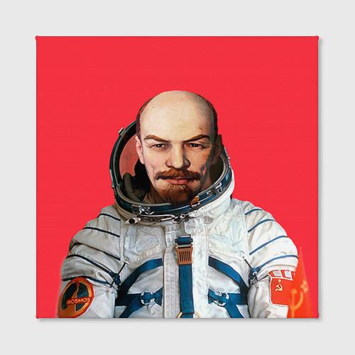 Холст квадратный  Фото 02, Ленин космонавт