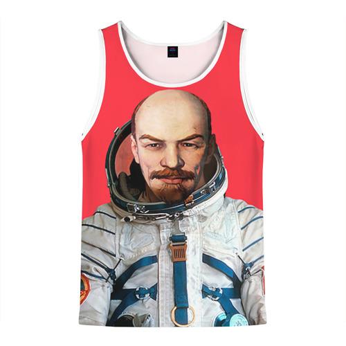 Мужская майка 3D  Фото 01, Ленин космонавт