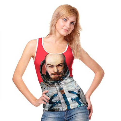 Женская майка 3D  Фото 05, Ленин космонавт