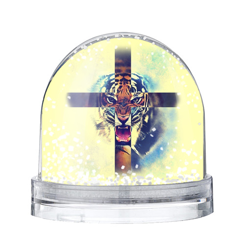 Водяной шар со снегом Хипстер Тигр