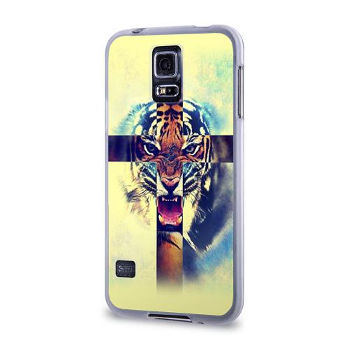 Чехол для Samsung Galaxy S5 силиконовый  Фото 03, Хипстер Тигр