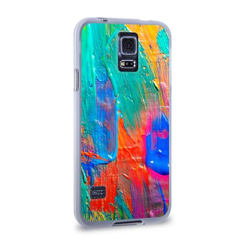 Чехол для Samsung Galaxy S5 силиконовый  Фото 02, Абстракция красок