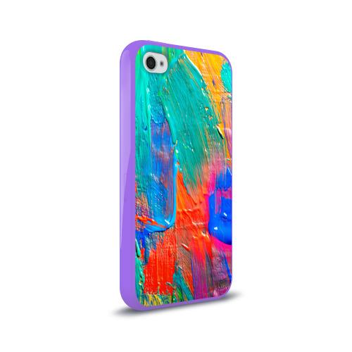 Чехол для Apple iPhone 4/4S силиконовый глянцевый  Фото 02, Абстракция красок